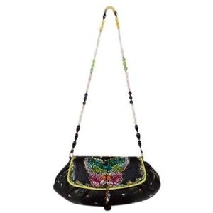 Mary Frances Embellish Rhinestone Butterfly Bag